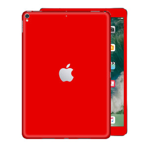 iPad PRO 10.5 inch 2017 Glossy Bright RED Skin Wrap Sticker Decal Cover Protector by EasySkinz