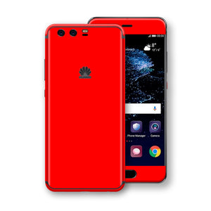 Huawei P10+ PLUS  Bright Red Glossy Gloss Finish Skin, Decal, Wrap, Protector, Cover by EasySkinz | EasySkinz.com