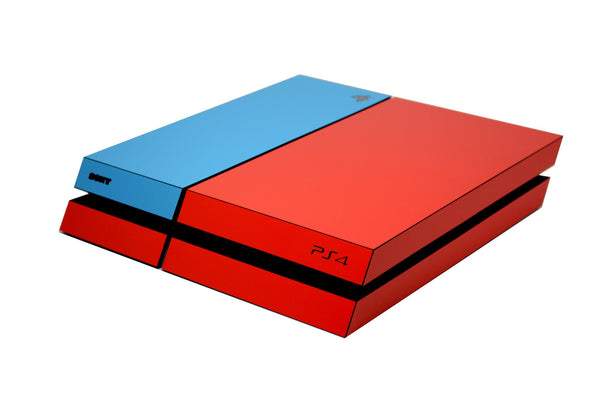 ps4 red and blue matt skin