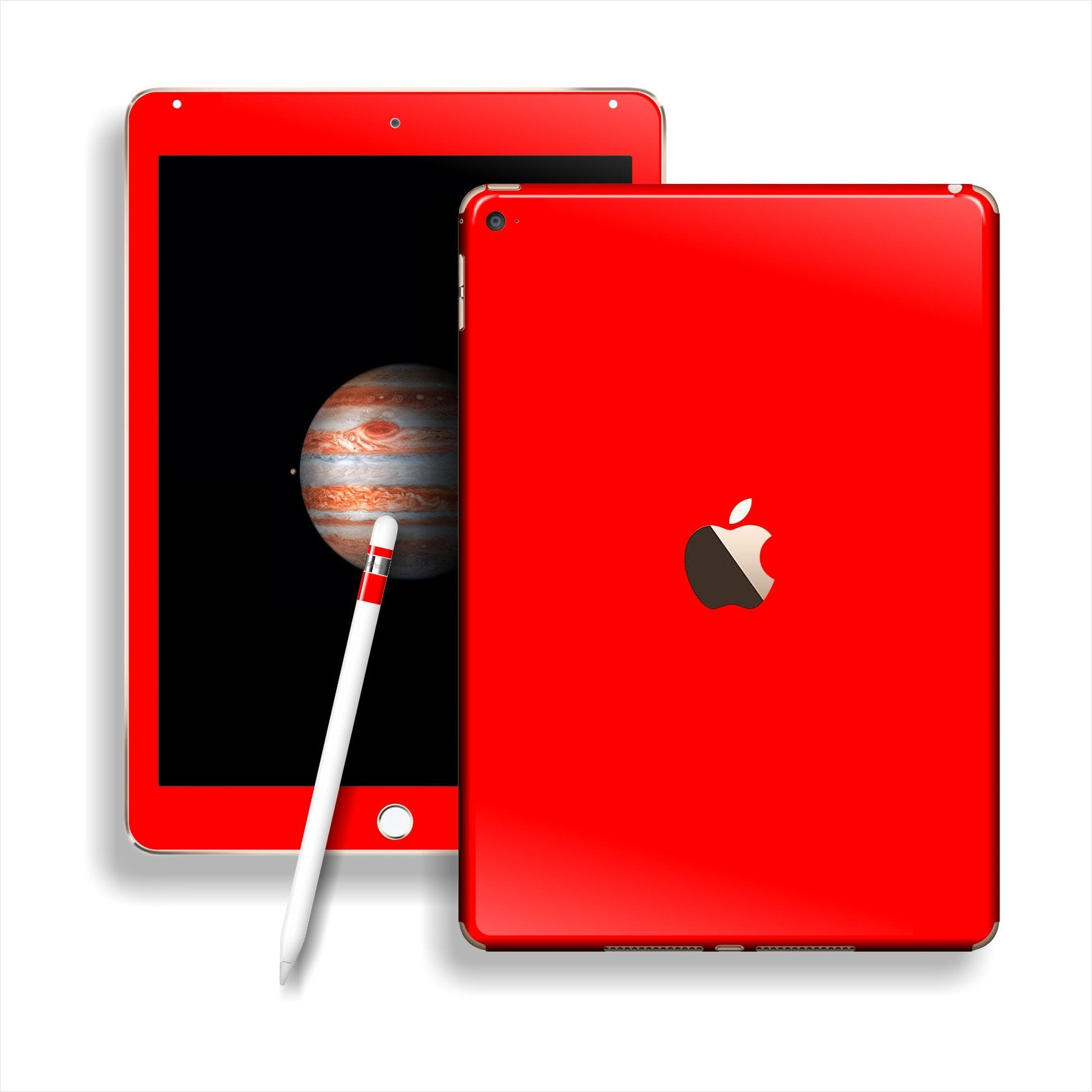 iPad PRO Glossy Bright Red Skin Wrap Sticker Decal Cover Protector by EasySkinz