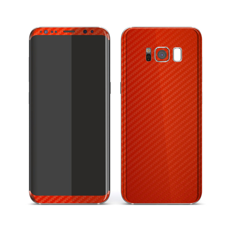 Samsung Galaxy S8+ 3D Textured Red Carbon Fibre Fiber Skin, Decal, Wrap, Protector, Cover by EasySkinz | EasySkinz.com