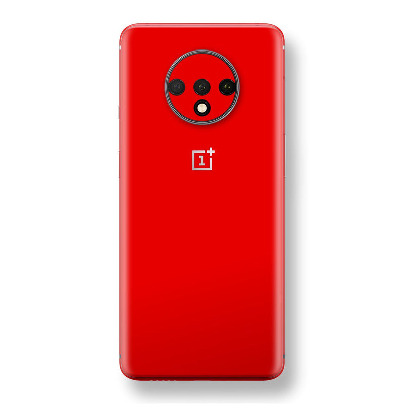 OnePlus 7T Red Matt Skin, Decal, Wrap, Protector, Cover by EasySkinz | EasySkinz.com
