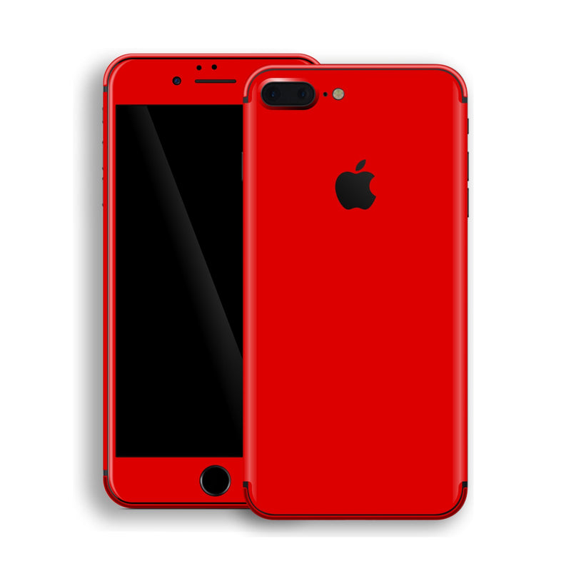iPhone 8 Plus Bright Red Glossy Gloss Finish Skin, Decal, Wrap, Protector, Cover by EasySkinz | EasySkinz.com