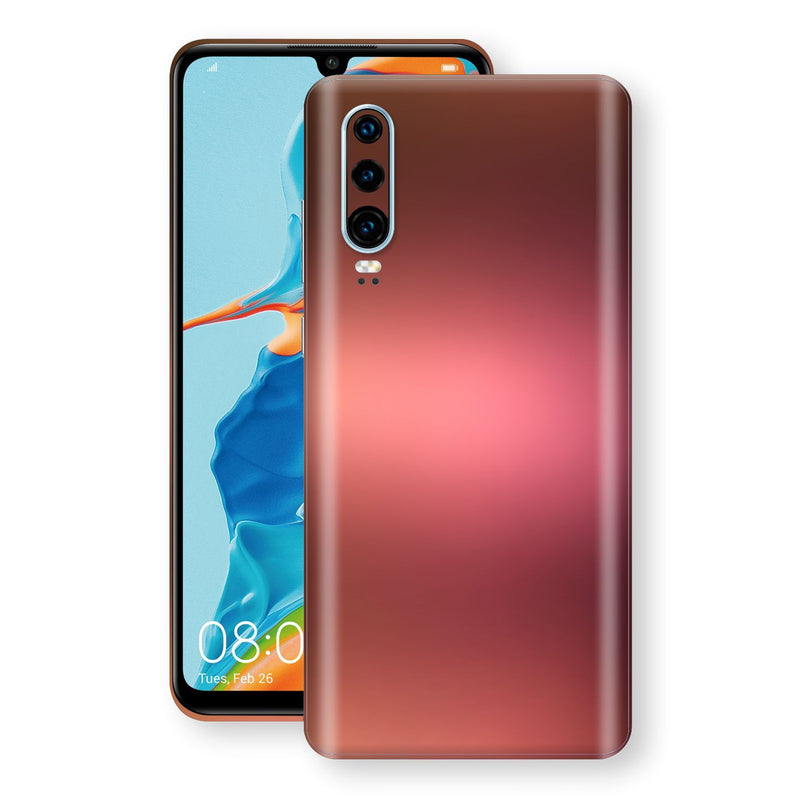 Huawei P30 Chameleon Aubergine Bronze Skin Wrap Decal Cover by EasySkinz