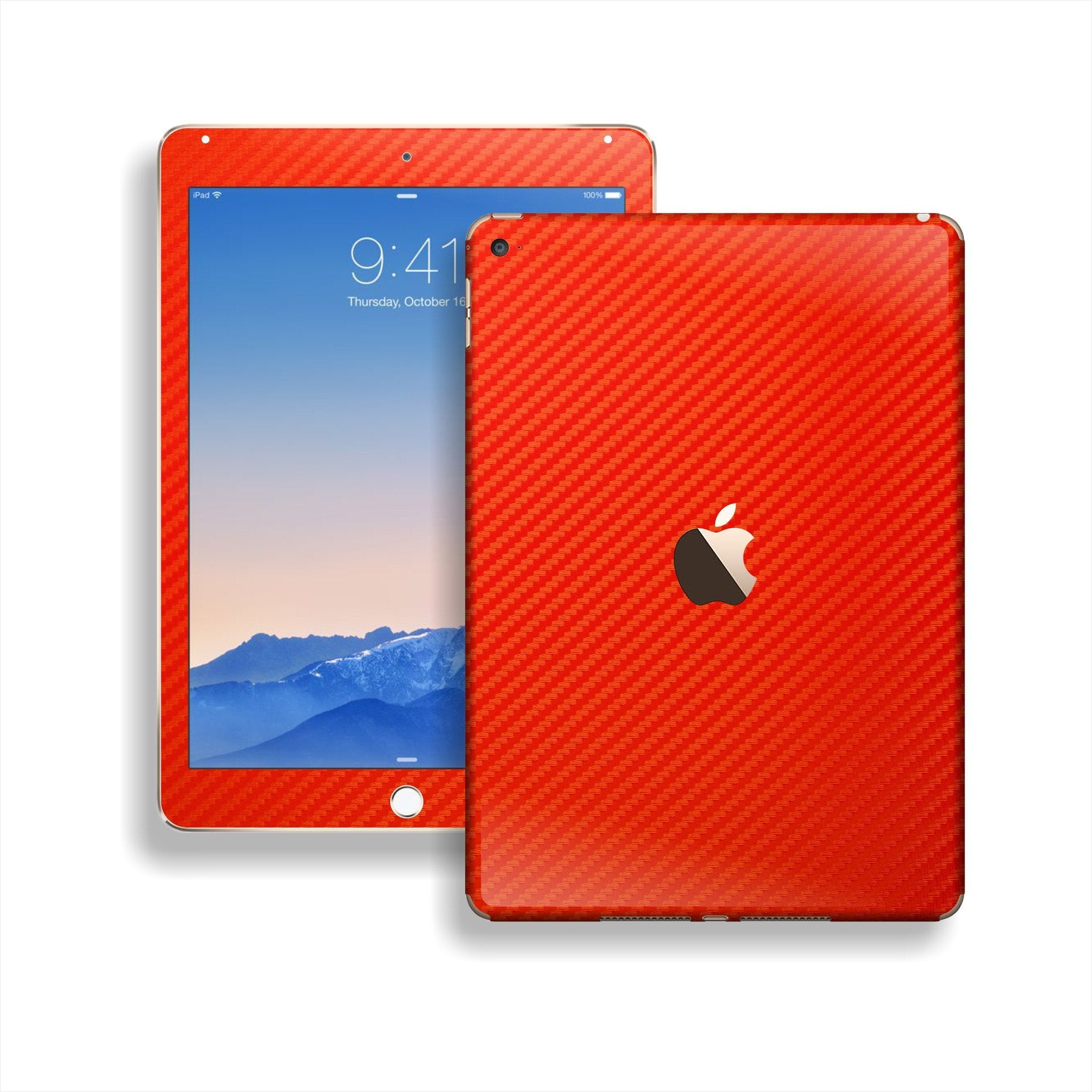 iPad Air 2 Red CARBON Fibre Fiber Skin Wrap Sticker Decal Cover Protector by EasySkinz