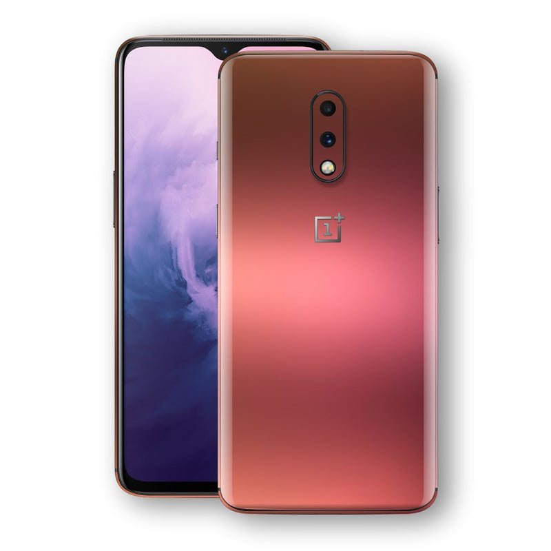 OnePlus 7 Chameleon Aubergine Bronze Skin Wrap Decal Cover by EasySkinz