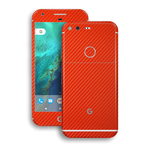 Google Pixel Red Carbon Fibre Fiber Skin Wrap Decal by EasySkinz