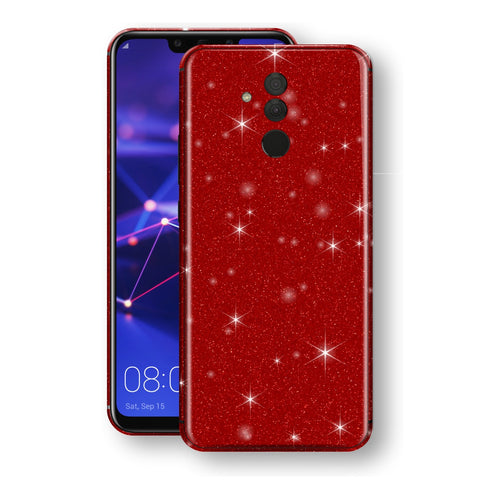 Huawei MATE 20 LITE Diamond Red Shimmering, Sparkling, Glitter Skin, Decal, Wrap, Protector, Cover by EasySkinz | EasySkinz.com