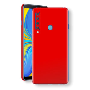 Samsung Galaxy A9 (2018) Bright Red Glossy Gloss Finish Skin, Decal, Wrap, Protector, Cover by EasySkinz | EasySkinz.com