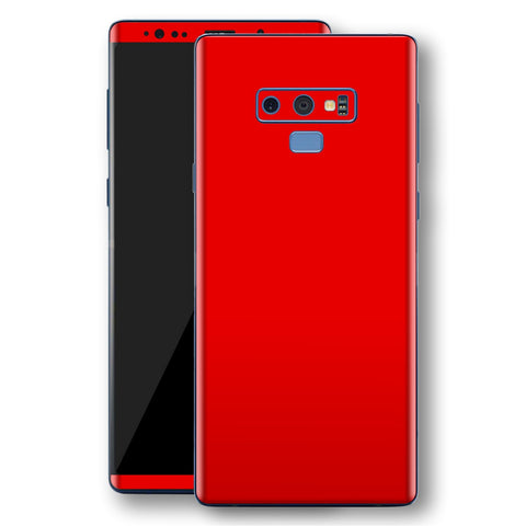 Samsung Galaxy NOTE 9 Bright Red Glossy Gloss Finish Skin, Decal, Wrap, Protector, Cover by EasySkinz | EasySkinz.com