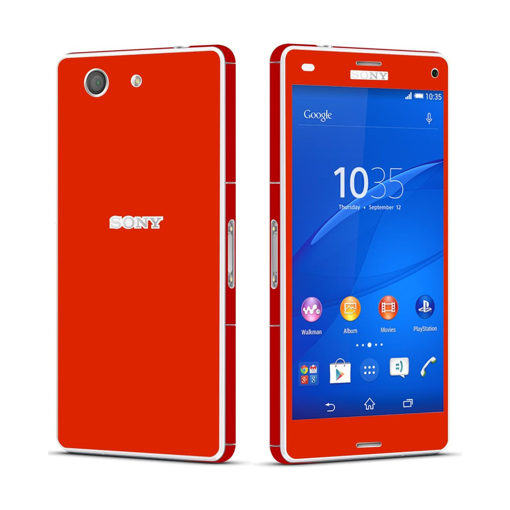 Sony Xperia Z3 COMPACT Red Matt Skin Wrap Sticker Cover Decal Protector By EasySkinz
