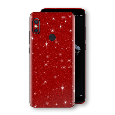 XIAOMI Redmi NOTE 5 Diamond Red Shimmering, Sparkling, Glitter Skin, Decal, Wrap, Protector, Cover by EasySkinz | EasySkinz.com