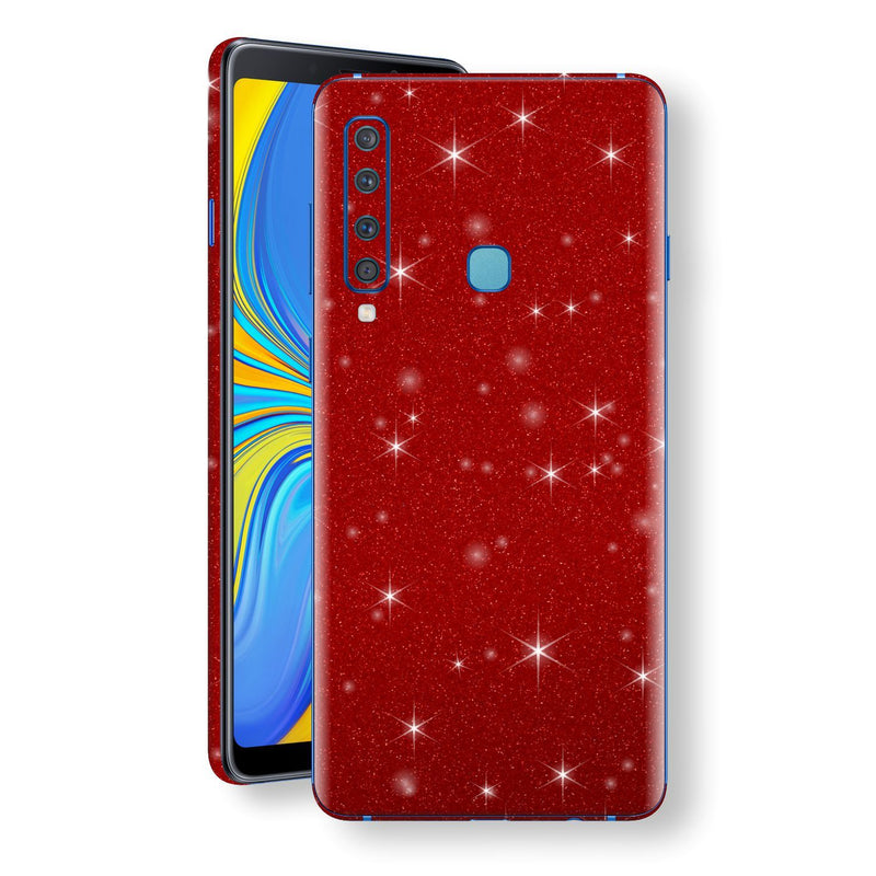 Samsung Galaxy A9 (2018) Diamond Red Shimmering, Sparkling, Glitter Skin, Decal, Wrap, Protector, Cover by EasySkinz | EasySkinz.com