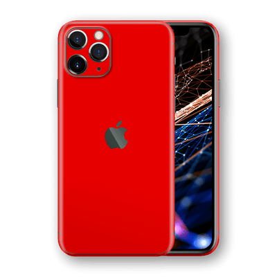iPhone 11 PRO Red Matt Matte Skin, Wrap, Decal, Protector, Cover by EasySkinz | EasySkinz.com