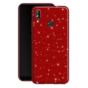 Huawei P20 LITE Diamond Red Shimmering, Sparkling, Glitter Skin, Decal, Wrap, Protector, Cover by EasySkinz | EasySkinz.com