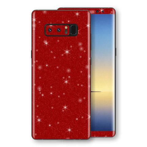 Samsung Galaxy NOTE 8 Diamond Red Shimmering, Sparkling, Glitter Skin, Decal, Wrap, Protector, Cover by EasySkinz | EasySkinz.com