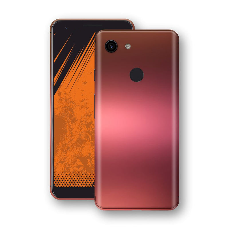 Google Pixel 3a Chameleon Aubergine Bronze Skin Wrap Decal Cover by EasySkinz