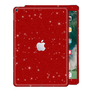 "iPad 9.7"" inch 5th Generation 2017 Diamond Red Glitter Shimmering Skin Wrap Sticker Decal Cover Protector by EasySkinz"