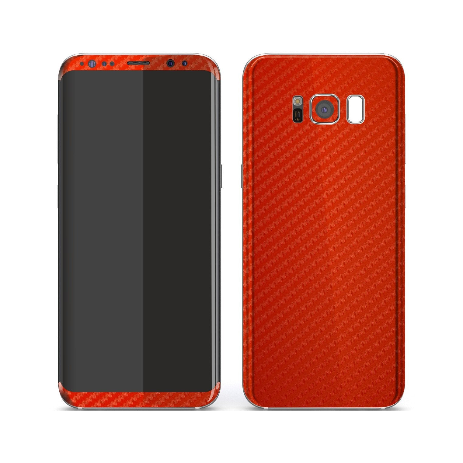 Samsung Galaxy S8 3D Textured Red Carbon Fibre Fiber Skin, Decal, Wrap, Protector, Cover by EasySkinz | EasySkinz.com