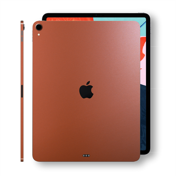iPad PRO 11-inch 2018 Matt Matte Rose Gold Metallic Skin Wrap Sticker Decal Cover Protector by EasySkinz
