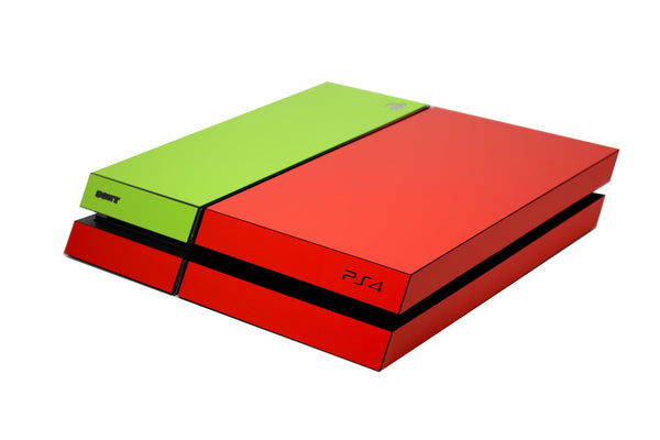 ps4 red and green matt skin