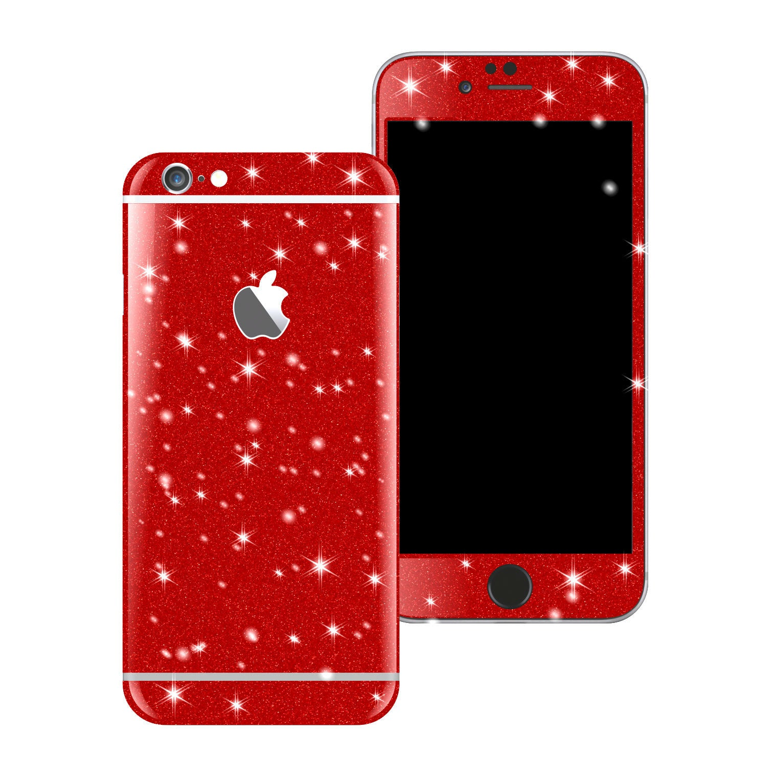 iPhone 6 Diamond RED Shimmering Glitter Skin Wrap Sticker Cover Decal Protector by EasySkinz
