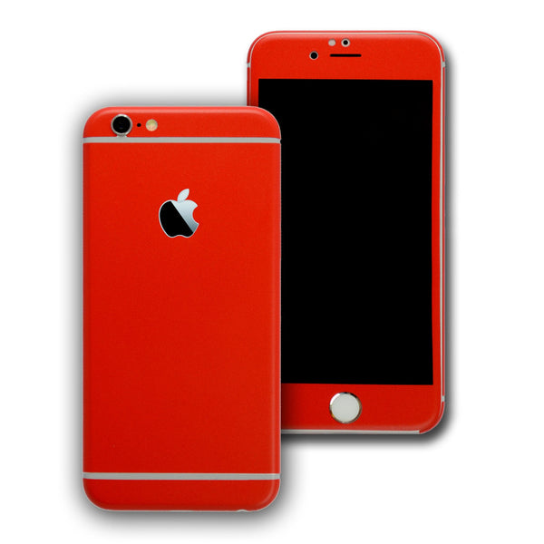 iPhone 6 Plus Colorful RED MATT Skin Wrap Sticker Cover Protector Decal by EasySkinz