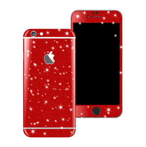 iPhone 6 Plus Diamond RED Shimmering Glitter Skin Wrap Sticker Cover Decal Protector by EasySkinz