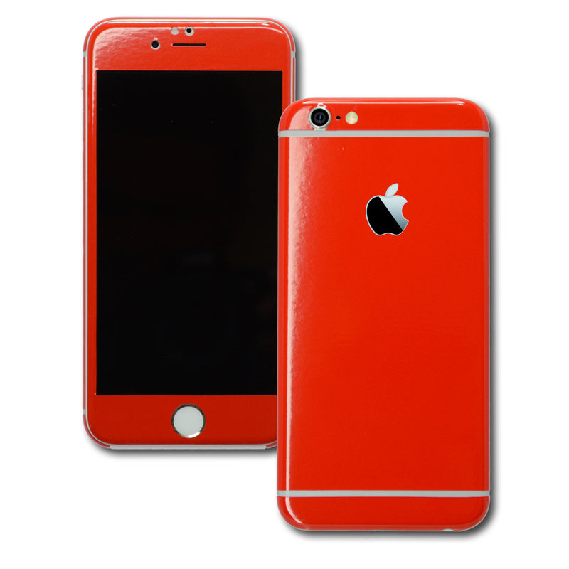 iPhone 6S PLUS Colorful GLOSS GLOSSY Bright Red Skin Wrap Sticker Cover Protector Decal by EasySkinz