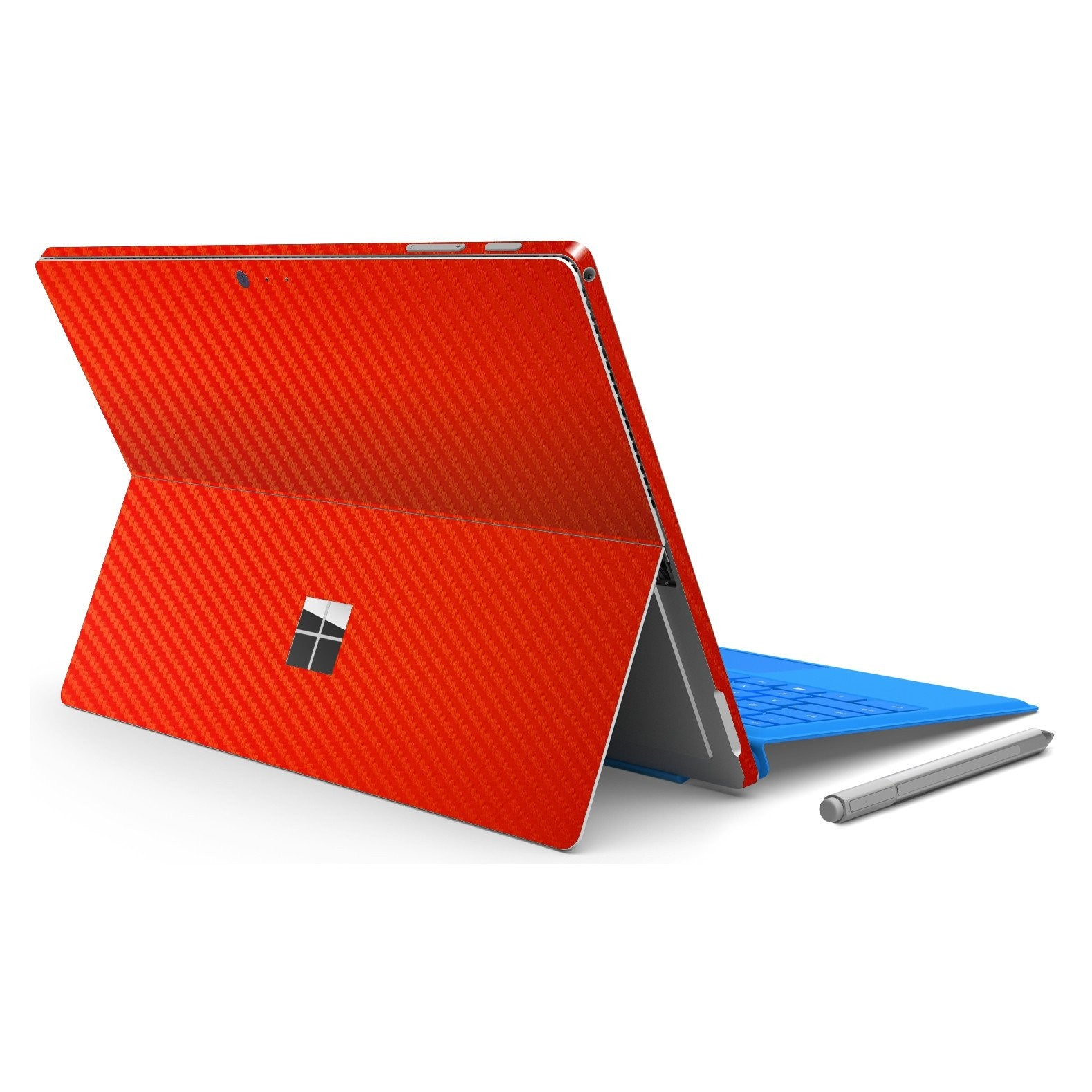 Microsoft Surface PRO 4 RED CARBON Fibre Fiber Skin Wrap Sticker Decal Cover Protector by EasySkinz