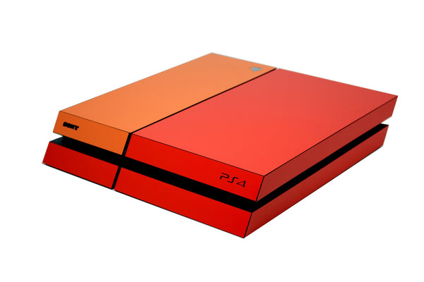 ps4 red and orange matt skin