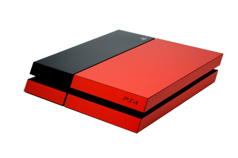 ps4 red and black matt skin