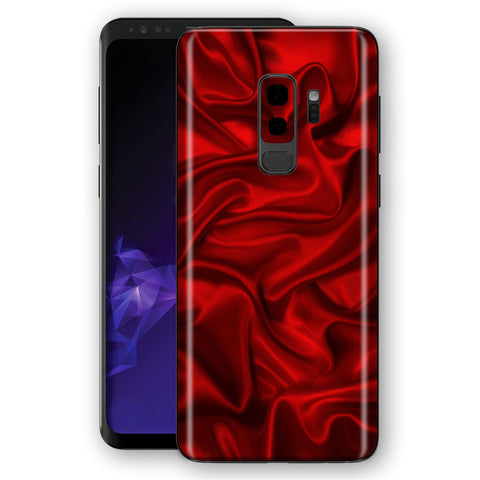 Samsung Galaxy S9+ PLUS Signature SATIN RED Skin, Decal, Wrap, Protector, Cover by EasySkinz | EasySkinz.com
