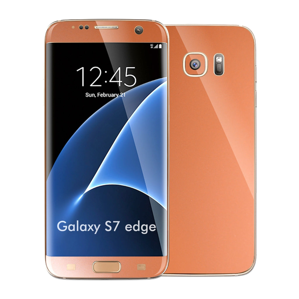 Samsung Galaxy S7 EDGE Rose Gold Matt Metallic Skin Wrap Decal Sticker Cover Protector by EasySkinz