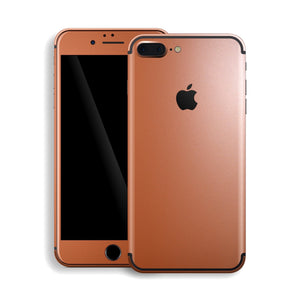 iPhone 7 Plus Rose Gold Matt Metallic Skin, Decal, Wrap, Protector, Cover by EasySkinz | EasySkinz.com