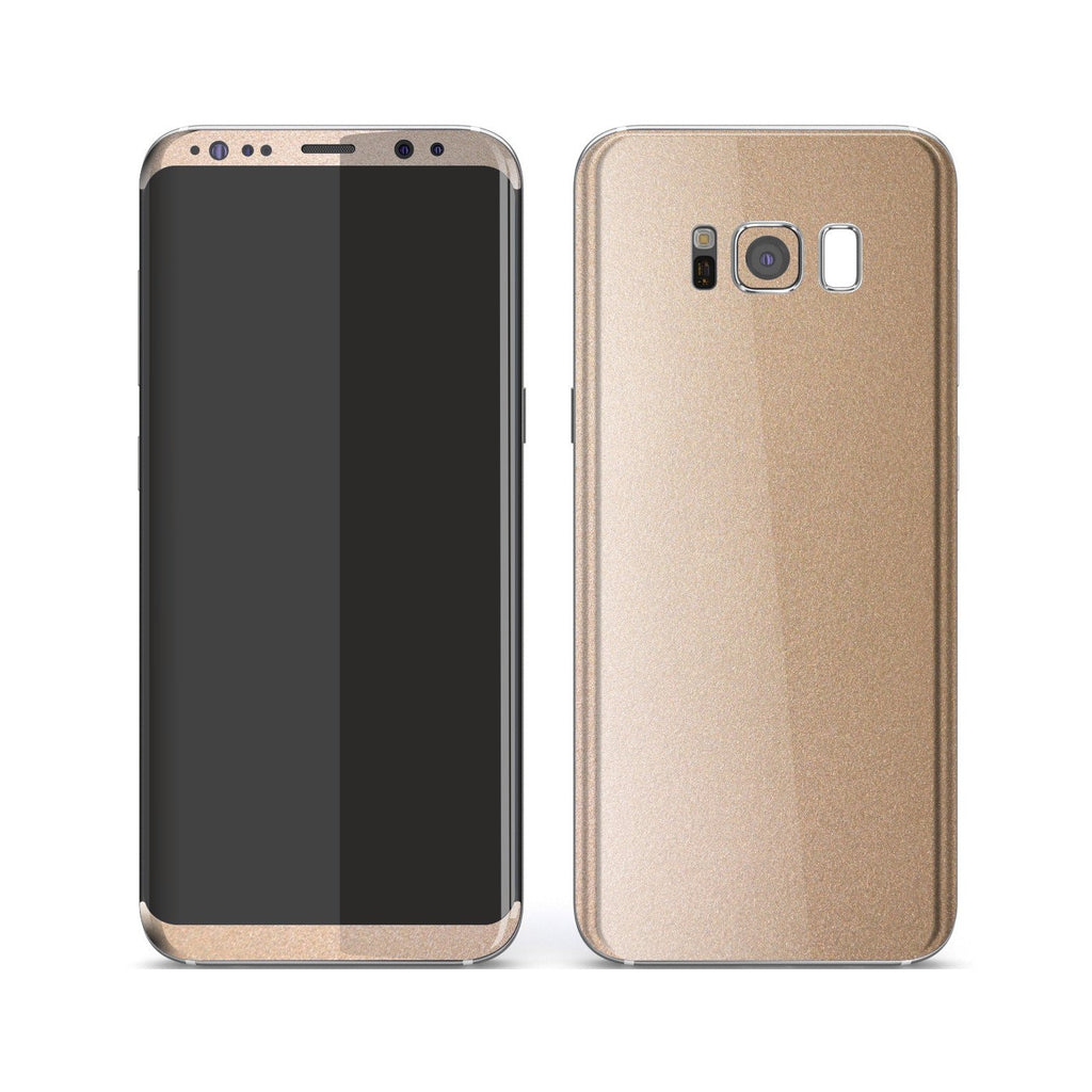 Samsung Galaxy S8+ Luxuria Rose Gold Metallic Skin Wrap Decal Protector | EasySkinz