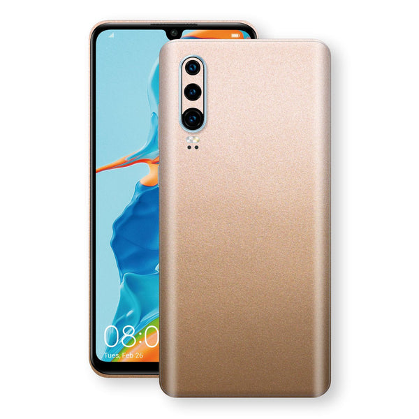 Huawei P30 Luxuria Rose Gold Metallic Skin Wrap Decal Protector | EasySkinz