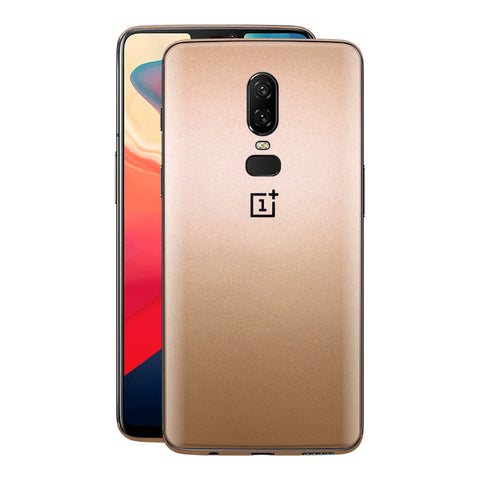 OnePlus 6 Luxuria Rose Gold Metallic Skin Wrap Decal Protector | EasySkinz