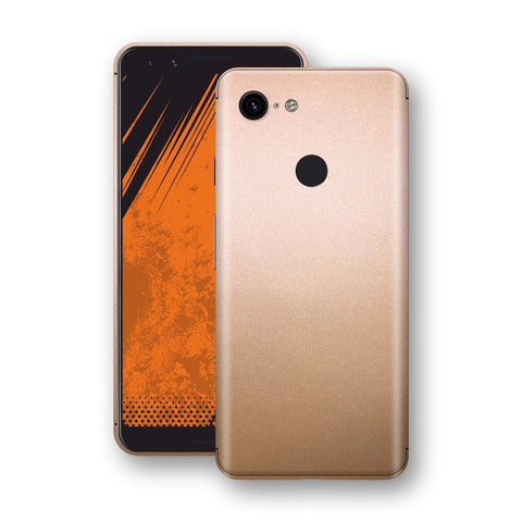 Google Pixel 3 Luxuria Rose Gold Metallic Skin Wrap Decal Protector | EasySkinz