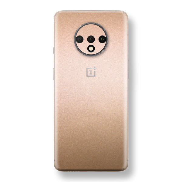 OnePlus 7T Luxuria Rose Gold Metallic Skin Wrap Decal Protector | EasySkinz