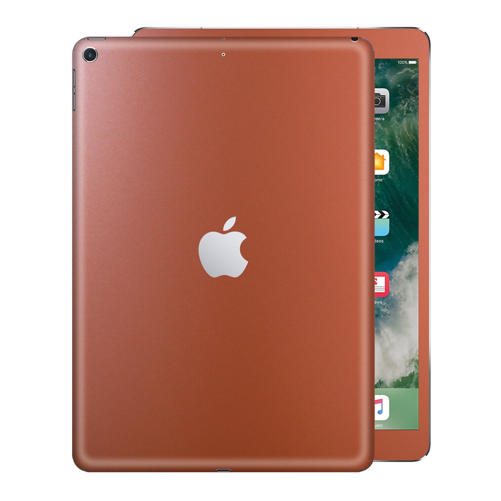 iPad 9.7 inch 2017 Matt Matte Rose Gold Metallic Skin Wrap Sticker Decal Cover Protector by EasySkinz