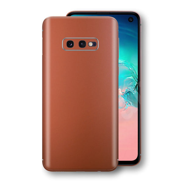 Samsung Galaxy S10e Rose Gold Matt Metallic Skin, Decal, Wrap, Protector, Cover by EasySkinz | EasySkinz.com