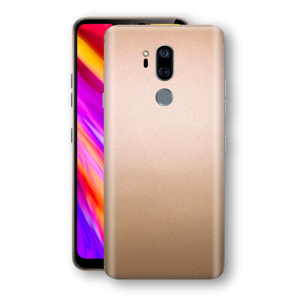 LG G7 ThinQ Luxuria Rose Gold Metallic Skin Wrap Decal Protector | EasySkinz