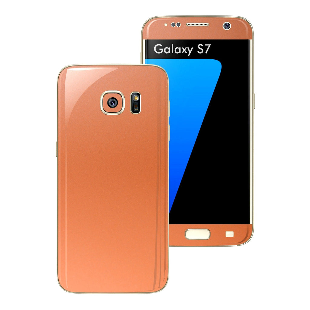 Samsung Galaxy S7 Rose Gold Matt Metallic Skin Wrap Decal Sticker Cover Protector by EasySkinz