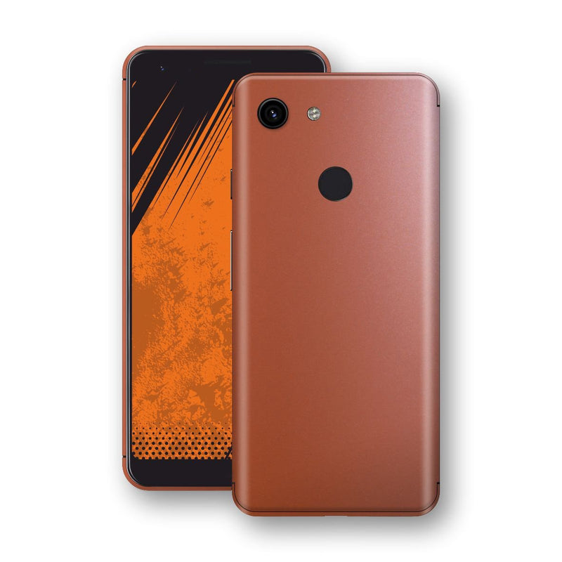 Google Pixel 3a XL Rose Gold Matt Metallic Skin, Decal, Wrap, Protector, Cover by EasySkinz | EasySkinz.com