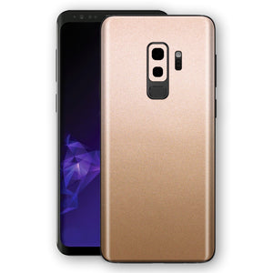 Samsung GALAXY S9+ PLUS Luxuria Rose Gold Metallic Skin Wrap Decal Protector | EasySkinz