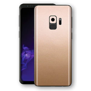 Samsung GALAXY S9 Luxuria Rose Gold Metallic Skin Wrap Decal Protector | EasySkinz