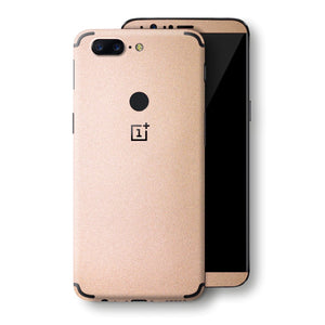 OnePlus 5T Luxuria Rose Gold Metallic Skin Wrap Decal Protector | EasySkinz