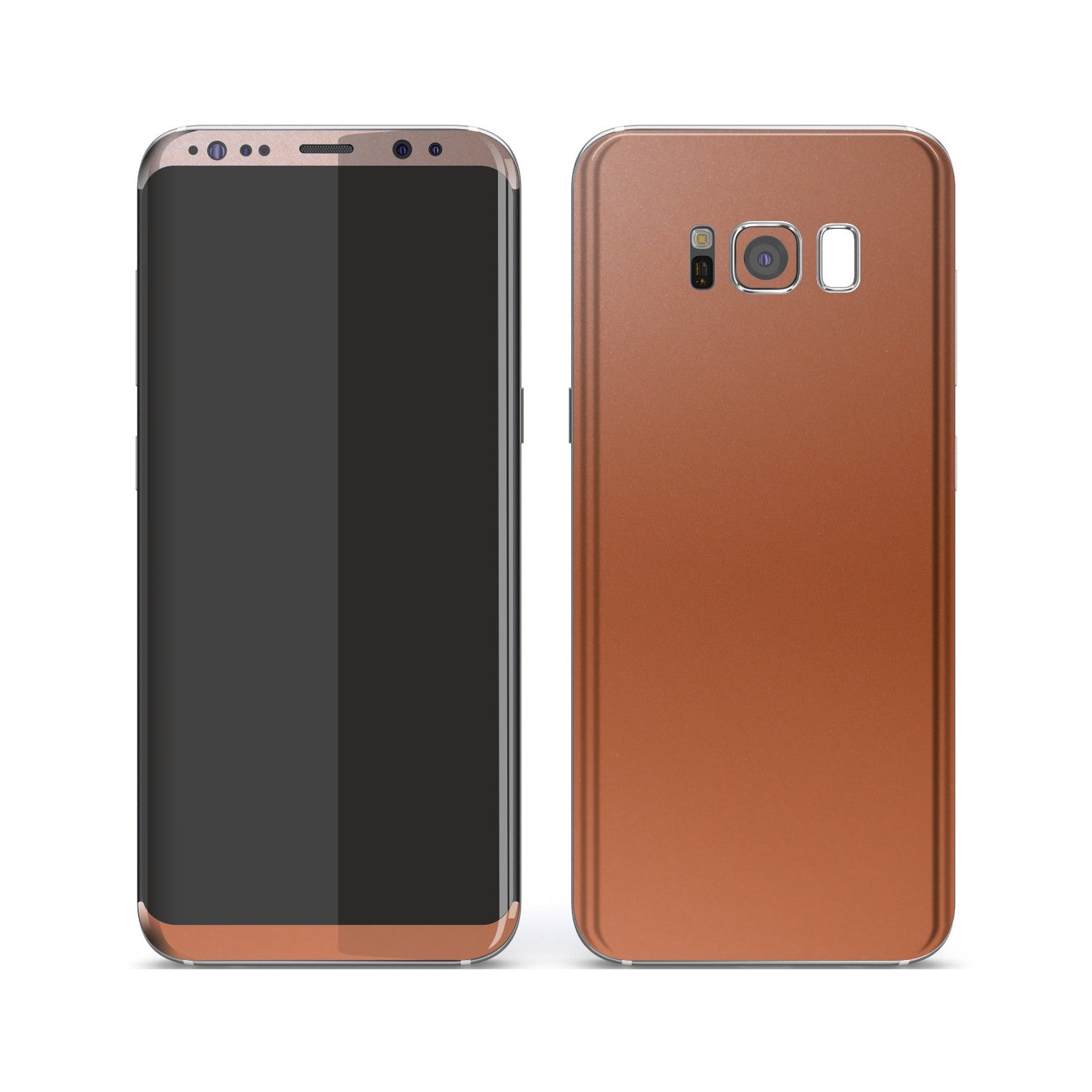 Samsung Galaxy S8+ Rose Gold Matt Metallic Skin, Decal, Wrap, Protector, Cover by EasySkinz | EasySkinz.com