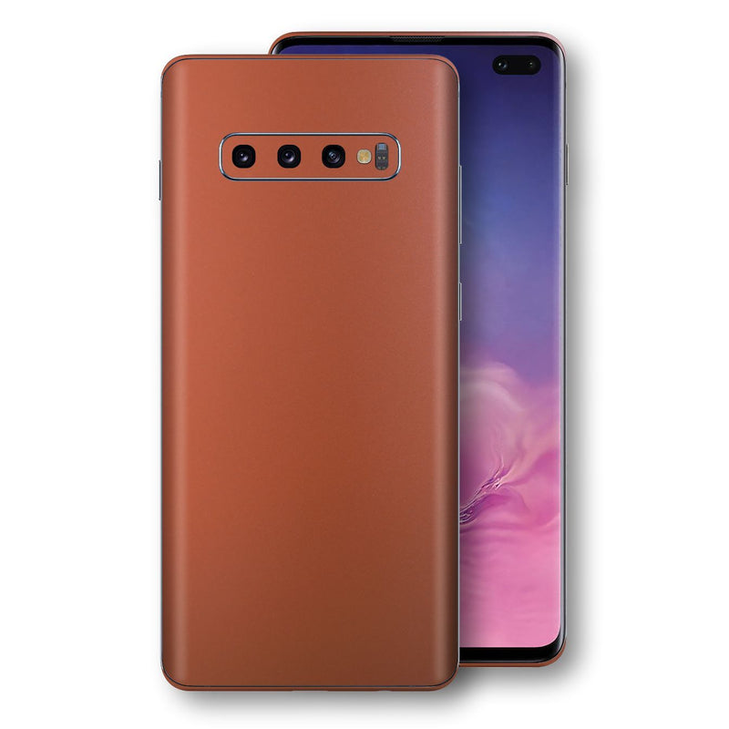 Samsung Galaxy S10+ PLUS Rose Gold Matt Metallic Skin, Decal, Wrap, Protector, Cover by EasySkinz | EasySkinz.com